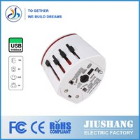 2014 High quality Separable universal travel adapter usb 1A to 2.1A