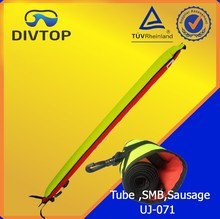 Iridescent signal tube buoy for scuba diving