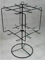 Black Countertop Spinner Rack with hook