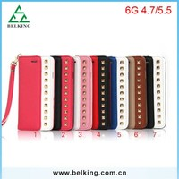 Crossing Pattern PU Bag For iPhone 6 Leather Hand Wallet Case, For iPhone 6 Shoulder Phone Bag Leather PU