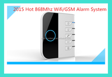 2015 Newest 868mhz Wifi Cube GSM Alarm System Security Home alarm with Android/IOS App