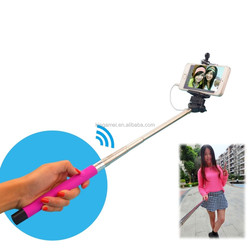 promotional cheap cable take pole selfie monopod stick for htc