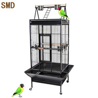Pet Bird Cage, African Grey Playtop Cheap Strong Metal Large Parrot Cage