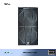 Dual 18inch high power speakers subwoofer hot new products for 2015 (S218+)