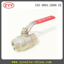 Stainless Steel lever Handle Two Piece Ball Valve with SS316