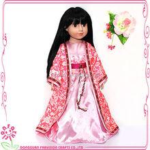Girls playmate 18 inch half body viny doll,lovely girl baby toy doll
