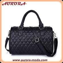 Wholesale handbag china guangzhou PU Leather quilted women bag fashion handbag women handbag