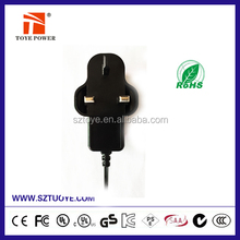Manufacturer 220V AC to 6V 2A DC Power Adapter with different plugs
