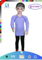 2015 new fashion style 100% cotton kids thermal underwear