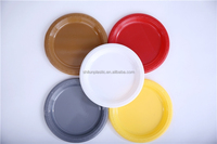 Disposable food container round hot selling colorful eco friendly plates for wedding, party, restaurant