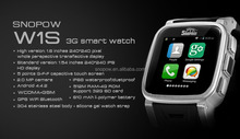 SNOPWO w1s android 4.4 ip68 waterproof 3G wifi GPS cell phone watch