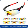 Multi-lens optional polarized UV400 protected anti-glare sport cycling eyeglasses