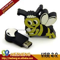 Mini USB Gadget Cartoon Character 4GB Bee Shape Pen Drives