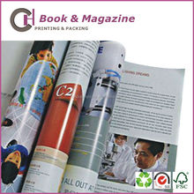 Eco friendly colorful art paper magazine printing