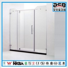 push and pull to open door style 8mm Frosted Glass shower box corner