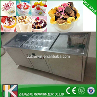 Stainless steel cold stone marble slab top fry ice cream machine