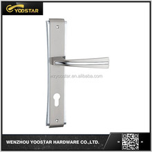 China top quality zamak plate door handle for European style wood door