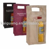 2014 Promotional 2 Bottle Non Woven Reusable Wine Tote with Window