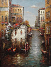 Good Details European Scenery Art Pictures on canvas for wall decoration