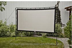 Large modern fast fold PVC material with front and rear projection fabric