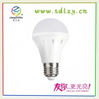 White color led light bulbs with milky cover lampshade