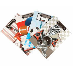 Good Quality Low Price Custom Printed Clamp File Folder, File Cover Decoration, Bill Folder