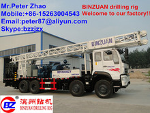 Hot Selling in Oversea Market!! 600m SINOTRUK full hydraulic truck mounted drilling rig