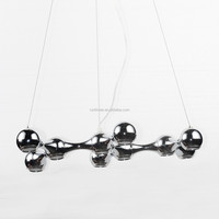 Modern Silver Molecular Shape Pendant Lamp Big Pendant Lamps