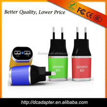 New design double usb 5v 2.1a usb travel adapter, travel adapter with usb, travel adapter usb