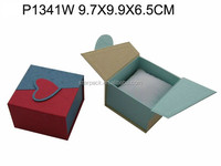 Paper Lover watch box with red heart on top