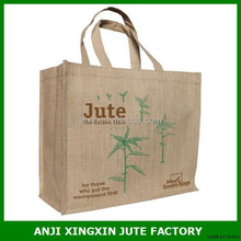 Made in China shopping bag burlap Jute plain tote Bags for supermarket