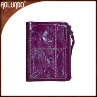 Latest design small clutch leather coin women purse
