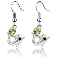 Fashion Jewelry Hong Kong Children Gift Crystal Dolphin Earring