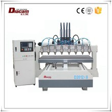 China Jiangsu Diacam WH-2012*8 strong cutting strength cnc machine made in germany router machine