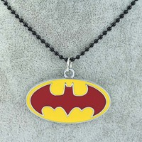 Free shipping European and American film and television hit batman logo necklace N-110