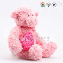 Plush cute heart bear/plush sfot toys for Valentine's