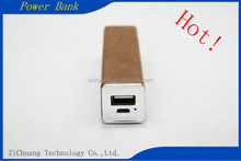 Manufacturer Wholesale Factory Price Colorful portable 2600mah Top selling 18650 Li Polymer Beautiful wood square tube Power