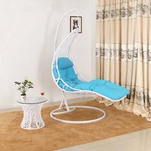 indoor bedroom swing rattan sunbed single seat swing chair