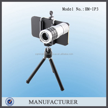 HM-IP3 high quality 12X Zoom Mobile Phone Lens Telescope with Tripod