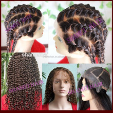 2015 New Design Thin Skin Afro Kinky Curly Glueless Full Lace Wigs
