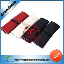 Promotional folding canvas office and school neoprene pen bag
