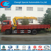 Dongfeng good quality 4x2 5 ton mobile crane truck for sale