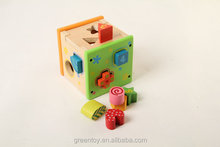 Wooden educational toy wood block with numbers