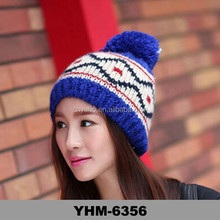 new fashion Women cute hat knitted wool winter lady outdoor Protect ears cap hat