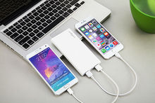 New arrival mobile silver frosted metal promotion power bank with 10200mah