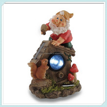Happy Builder Garden Gnome Solar Accent Light