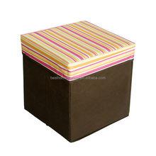 fabric storage ottoman