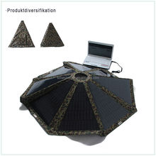 High Quality Wholesale Low Price portable monocrystaline 60w solar charger umbrella