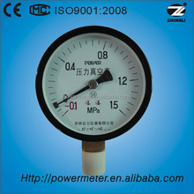 100mm general pressure gauge types measuring device bourdon tube pressure gauge bottom connection CE