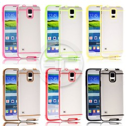 Slim Transparent Crystal Color Lines Clear Soft TPU Case For Galaxy S5